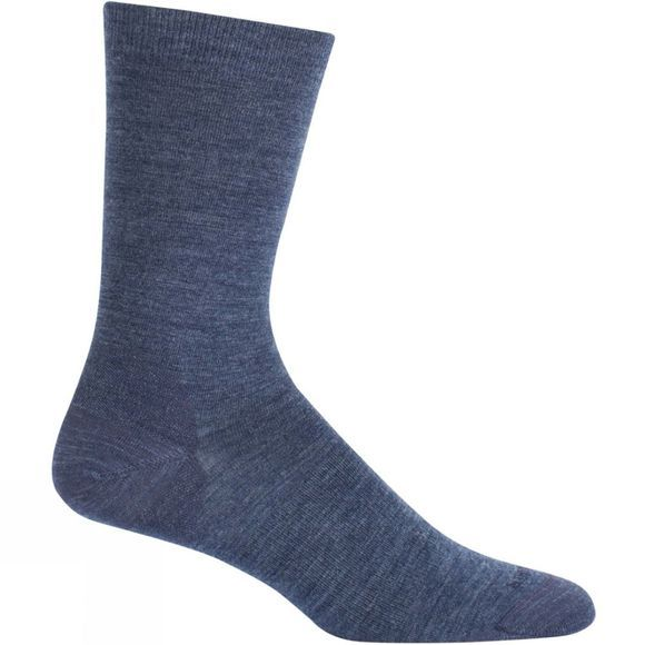 Mens LifeStyle Fine Gauge Ultra Light Crew Sock