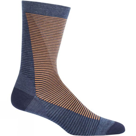 Mens LifeStyle Fine Gauge Ultra Light Crew Leaning Ladders Sock