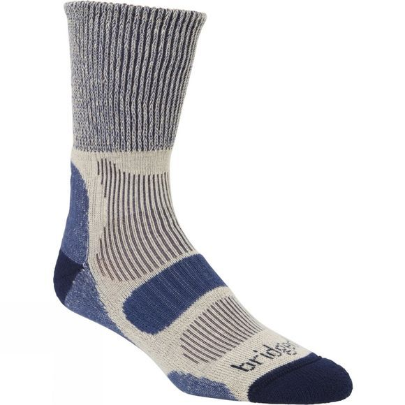Bridgedale Mens Lightweight Cotton Comfort Sock Indigo