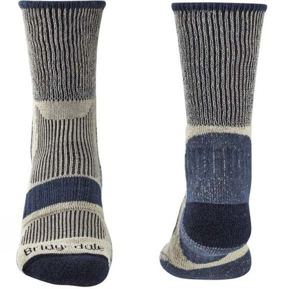 Bridgedale Mens Hike Lightweight Cotton Cool Comfort Socks Charcoal
