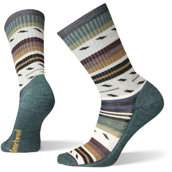 SmartWool Mens Hike Light Margarita Crew Socks Everglade
