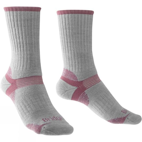 Bridgedale Womens Merino Hiker Sock Grey/Pink