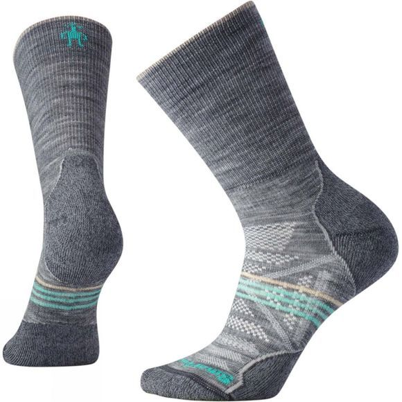 SmartWool Womens PhD Outdoor Light Crew Socks Light Gray