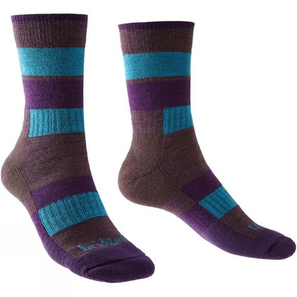Bridgedale Womens Merino Banded Trail Sock Berry/Purple