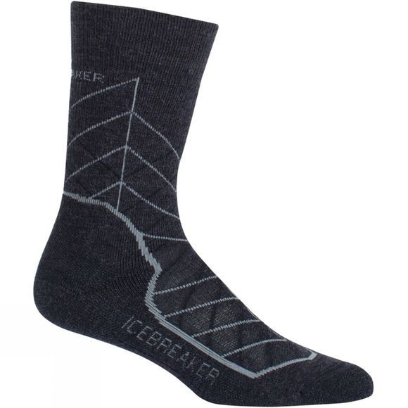 Icebreaker Womens Hike+ Medium Crew Metric Sock Jet Hthr/Twister Hthr/Black