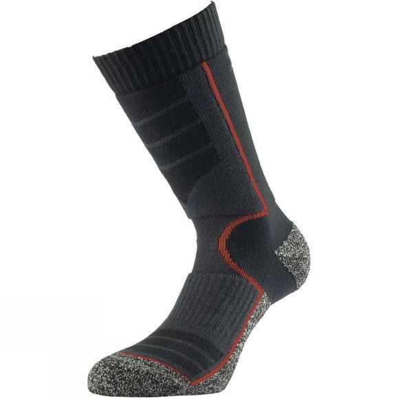 1000 Mile Womens Ultra Performance Walking Sock with Cupron Black/Red