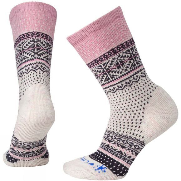 SmartWool Womens CHUP Genser Crew Socks Moonbeam Heather