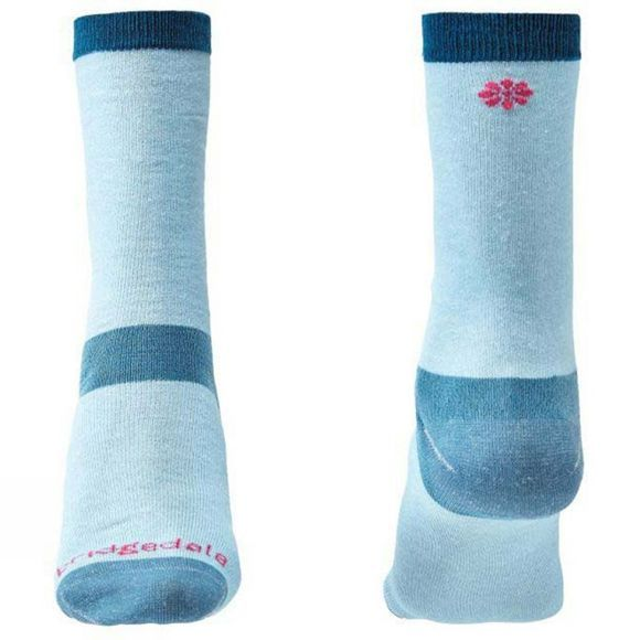 Bridgedale Women's  Liner Base Layer Coolmax Liner Socks Sky