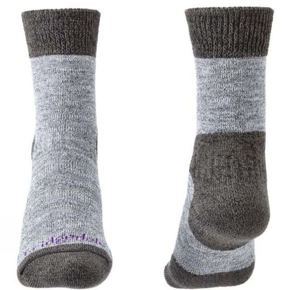 Bridgedale Women's Explorer Heavyweight Merino Comfort Socks Grey