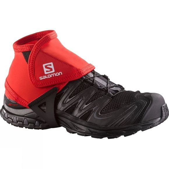 Salomon Trail Gaiters Low Bright Red