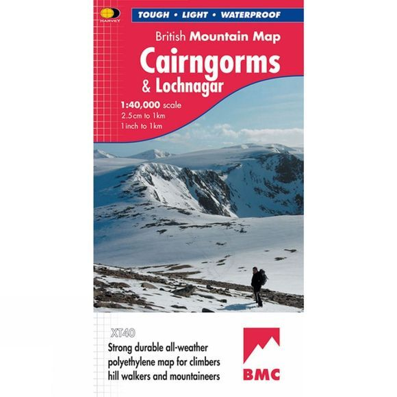 Harvey Maps Cairngorms & Lochnagar British Mountain Map 1:40K No Colour