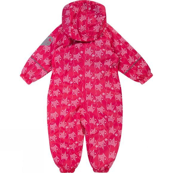 Regatta Kids Printed Splat Rain Suit Bright Blush Fox Print