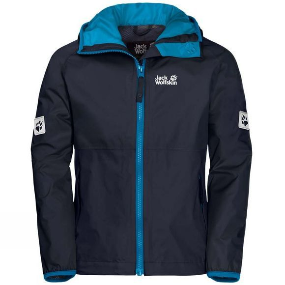 Jack Wolfskin Boys Rainy Days Jacket Night Blue