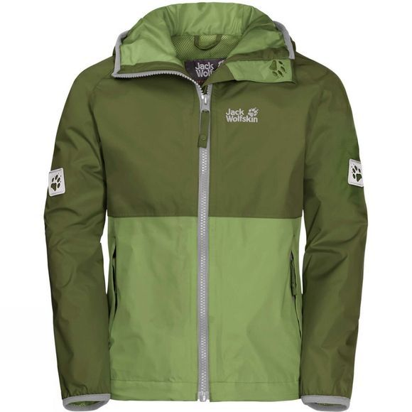 Jack Wolfskin Boys Rainy Days Jacket Cypress Green