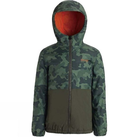 Regatta Kids Akiro Jacket Cypress Green Camo/Dark Khaki