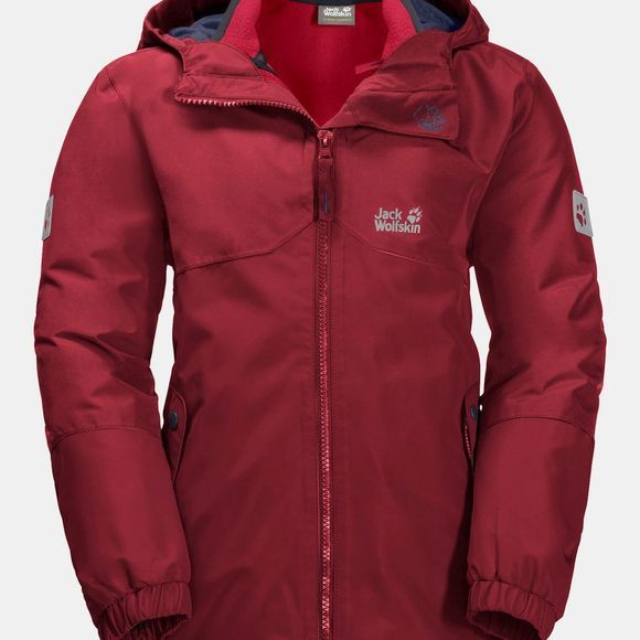 Jack Wolfskin Iceland 3in1 Jacket ll Dark Lacquer Red