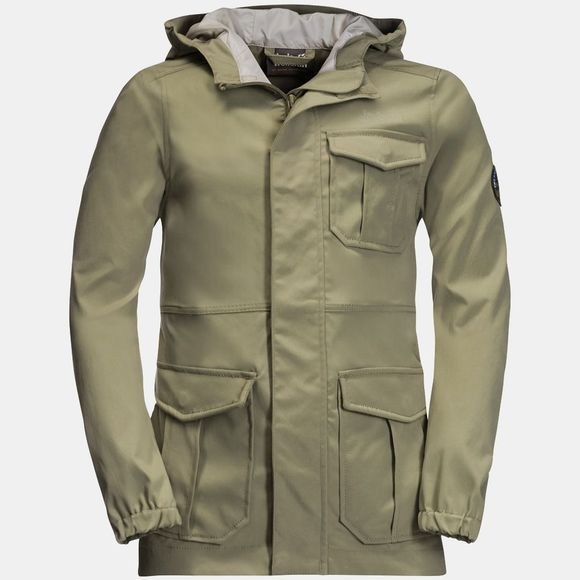Jack Wolfskin Kids Lakeside Safari Jacket Khaki