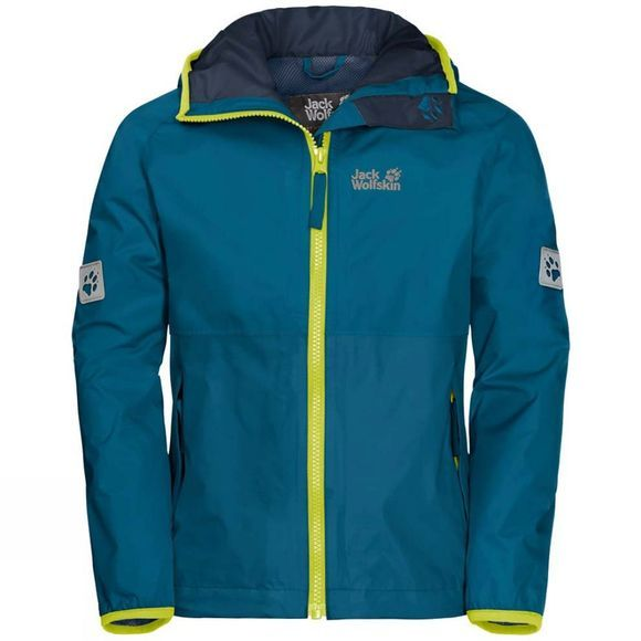 Jack Wolfskin Boys Rainy Days Jacket Celestial Blue