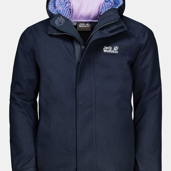 Jack Wolfskin Kids Drei Berge 3In1 Jacket 14+ Midnight Blue