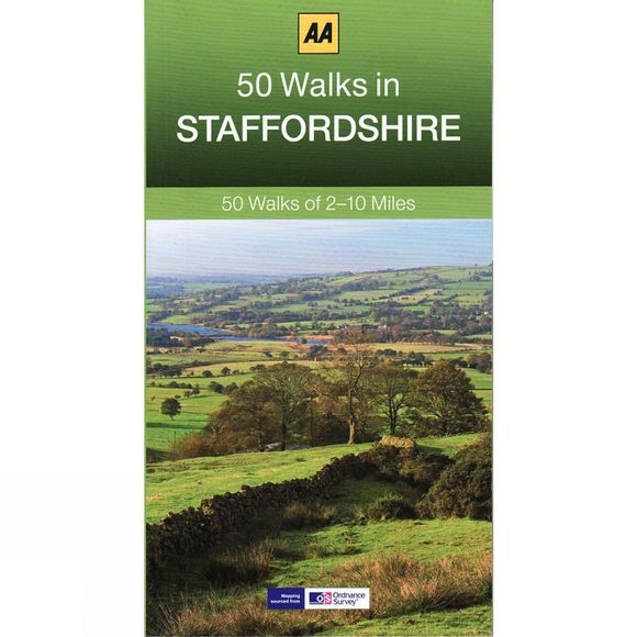 AA Publishing 50 Walks in Staffordshire No Colour