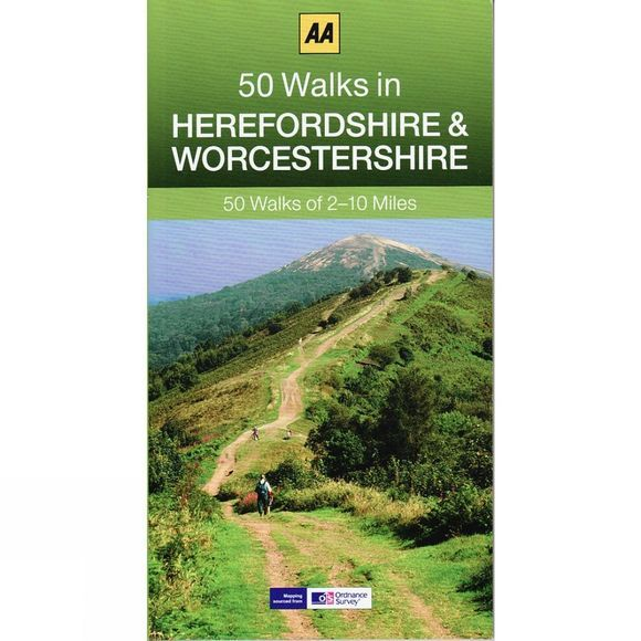 AA Publishing 50 Walks in Worcestershire and Herefordshire No Colour