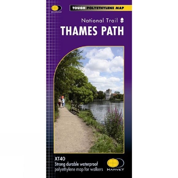Harvey Maps Thames Path National Trail Map 1:60K No Colour