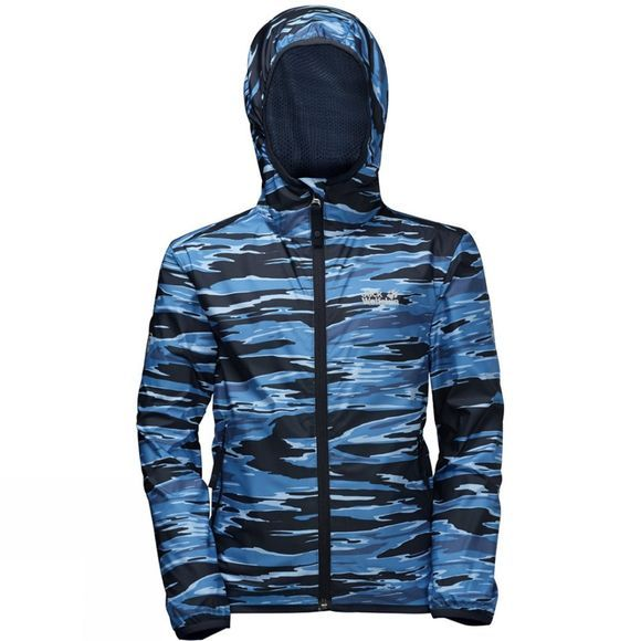 Jack Wolfskin Kids Coastal Wave Jacket Night Blue All Over