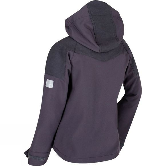 Regatta Kids Acidity Softshell Jacket Iron/Seal Grey Reflective