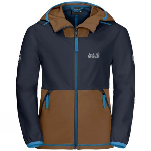 Jack Wolfskin Boys Turbulence Jacket Night Blue