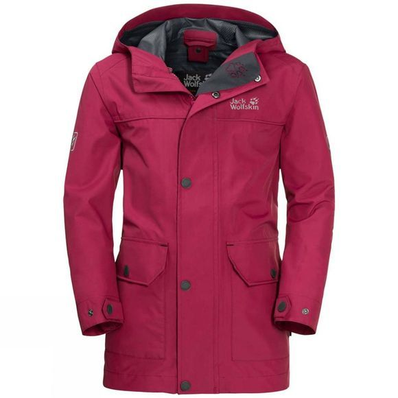 Jack Wolfskin Boys Banner Jacket Azalea Red