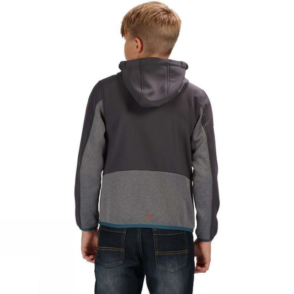Regatta Kids Bracknell Sofshell Jacket Seal Grey/Seal Grey