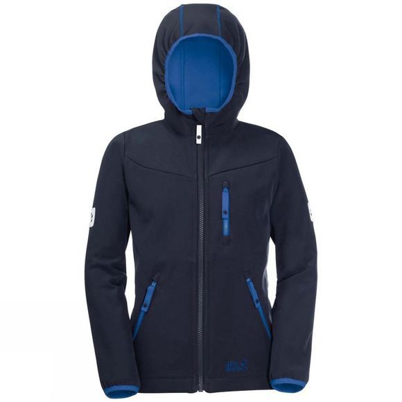 Jack Wolfskin Boys Whirlwind Jacket 14+ Night Blue/Silver