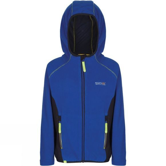 Regatta Kids Whinfell Full Zip ll Fleece Surfspary Blue/Ash