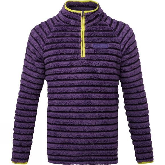 Craghoppers Kids Appleby Half Zip Dark Plum Combo