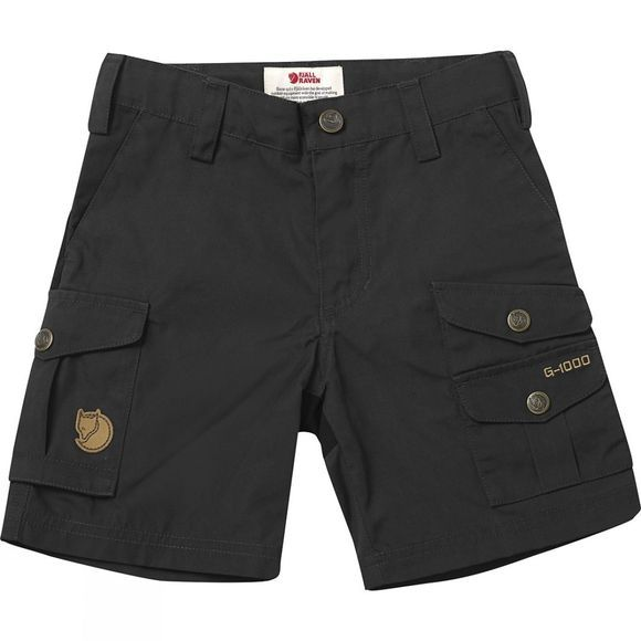 Fjallraven Kids Vidda Shorts Dark Grey/Black