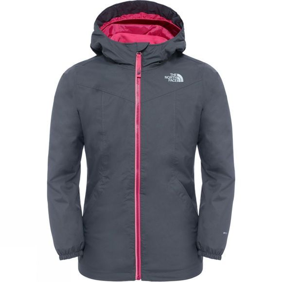 The North Face Girl's Eliana Rain Triclimate Jacet Graphite Grey