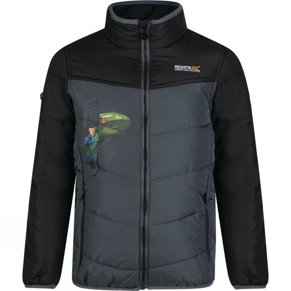 Regatta Boys Recharge Insulated Jacket Black/Sealgr