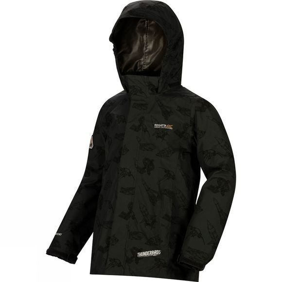 Regatta Boys Dozer Printed Insulated Jacket Seal Grey/Bl