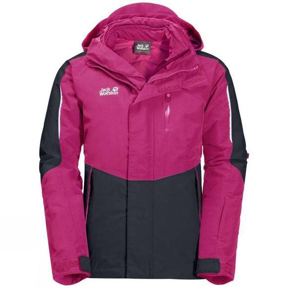 Jack Wolfskin Kids Crosswind 3in1 Jacket Fuchsia