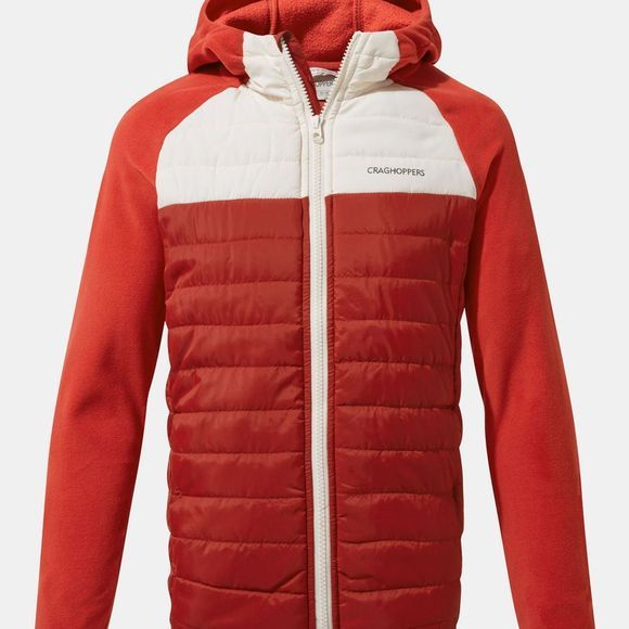 Craghoppers Boys Avery Hybrid Jacket Firth Red / Seasalt