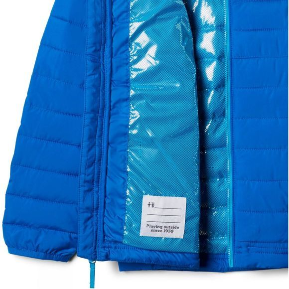 Columbia Boys Powder Lite Boys Hooded Jacket Super Blue/Ocean Blue