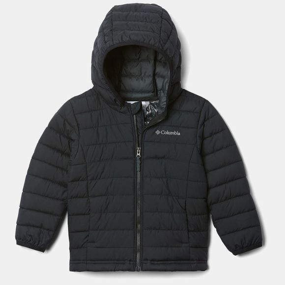 Columbia Boys Powder Lite Hooded Jacket Black