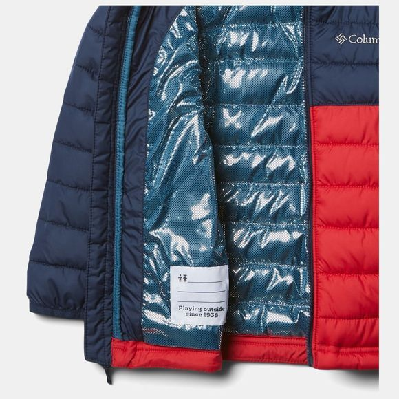 Columbia Boys Powder Lite Hooded Jacket Mountain Red/ Collegiate Navy