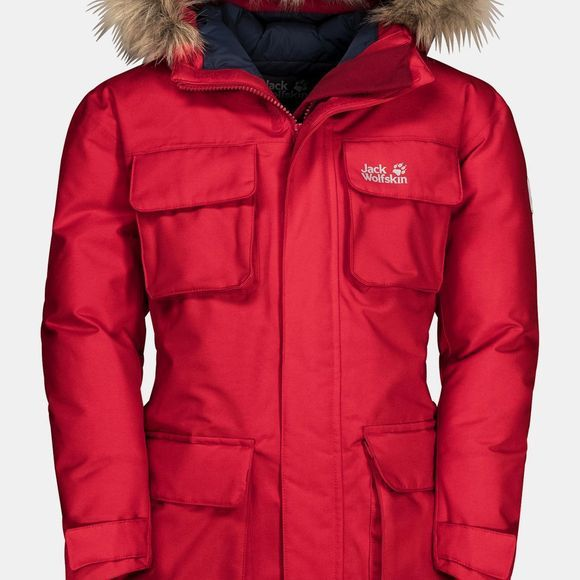 Jack Wolfskin Kids Ice Explorer Jacket Red Lacquer