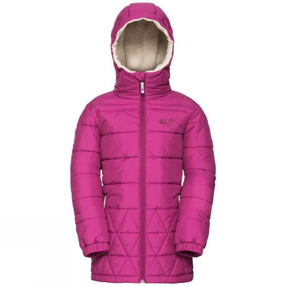 Jack Wolfskin Kids Black Bear Jacket 14+ Fuchsia