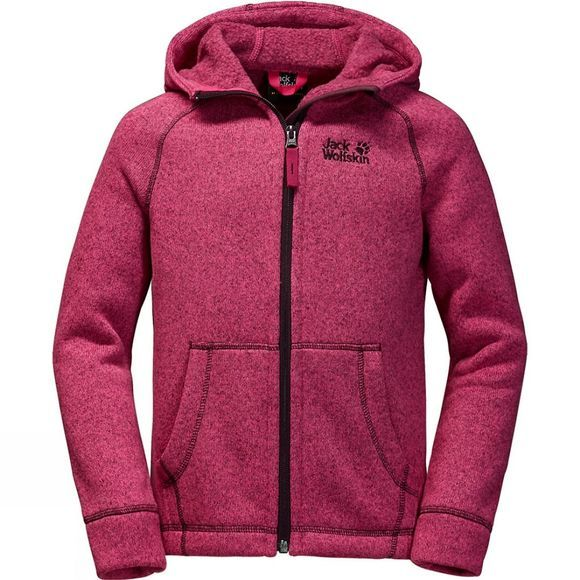 Jack Wolfskin Youths Caribou Lodge Jacket Age 14+ Pink Raspberry/Dark Berry