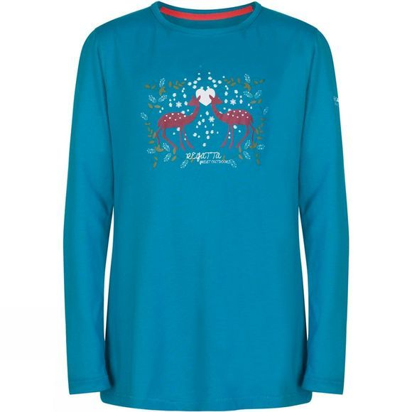 Regatta Kids Wilder Long Sleeve T-Shirt Age 14+ Enamel