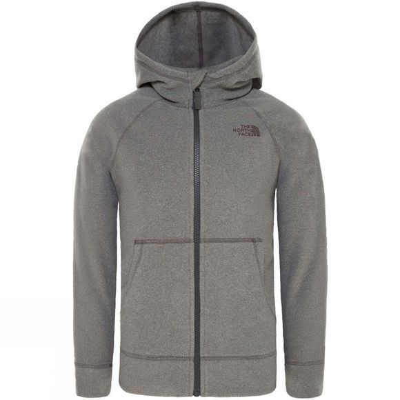 The North Face Boys Glacier Full Zip Hoodie TNF Medium Grey Heather