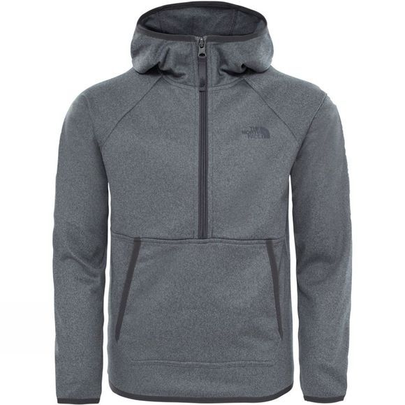 The North Face Boys Tech Glacier 1/4 Zip Hoodie TNF Medium Grey Heather
