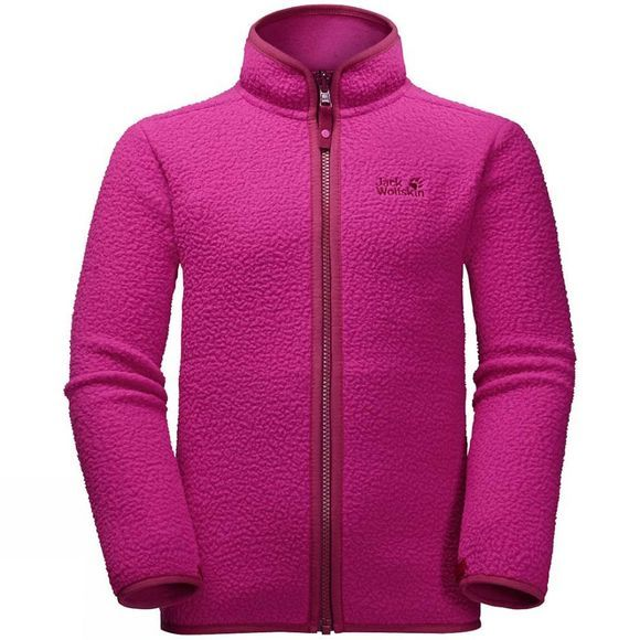 Jack Wolfskin Kids Black Bear Fleece Fuchsia